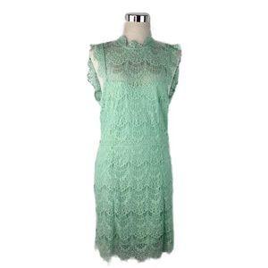 NWT Free People Mint Green Lace Drop Waist Dress